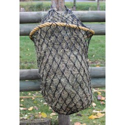 Haynet with solid ring
