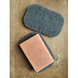 Soap mat or soap sponge.